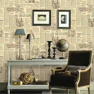 wallpaper with newspapers
